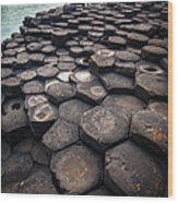 Giant's Causeway Pillars Wood Print