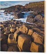 Giant's Causeway Surf Wood Print