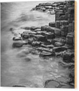 Giant's Causeway Waves  Wood Print