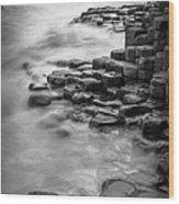 Giant's Causeway Waves  Wood Print