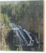 Gibbon River And Falls Wood Print
