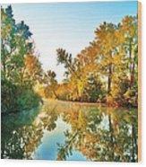 Gibralter Mi Waterway Wood Print
