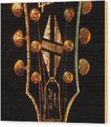 Les Paul - Gibson Headstock Wood Print