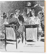 Gibson: Dinner Party, 1894 Wood Print