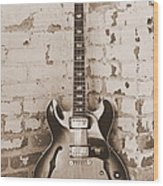 Gibson In Sepia Wood Print