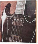 Gibson Sg Standard Red Grunge Wood Print
