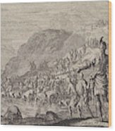 Gideon Orders His Men To Drink Water, Jan Luyken Wood Print