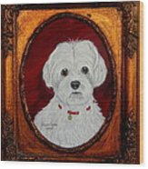 Gidget.my Maltese Wood Print