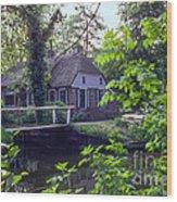 Giethoorn Thatch Wood Print