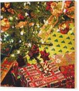 Gifts Under Christmas Tree Wood Print by Elena Elisseeva