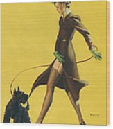 Gil Elvgren's Pin-up Girl Wood Print