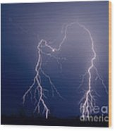 Gila Bend Double Grounded Bolt Wood Print