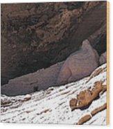 Gila Cliff Slope Wood Print
