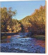 Gila River Gold Wood Print