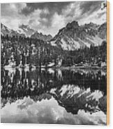 Gilbert Lake And University Peak Wood Print