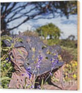 Gilcrease House Garden Flower Wood Print by Tamyra Ayles