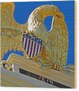 Gilded Eagle Wood Print