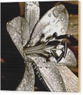 Gilded Lilies 3 Wood Print