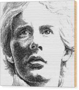 Gilles Villeneuve Wood Print by Diane Fine