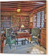 Gillette Castle Library Wood Print