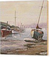Gillingham Pier On The Medway Wood Print