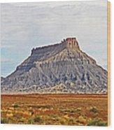 Gilson Peak Along The Colorado River Wood Print