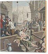 Gin Lane, Illustration From Hogarth Wood Print