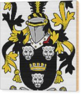 Gindon Coat Of Arms Irish Wood Print