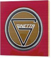 Ginetta Name Badge Wood Print