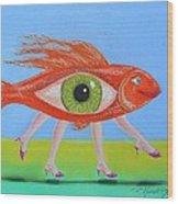 Ginger Fish Wood Print