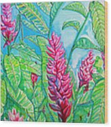 Ginger Jungle Wood Print