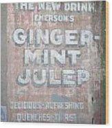 Ginger-mint Julep Wood Print