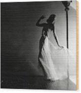 Ginger Rogers Wearing An Evening Gown Wood Print