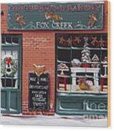 Gingerbread Bakery At Fox Creek Wood Print