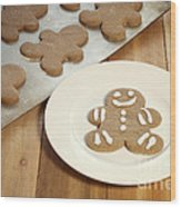 Gingerbread Cookies Wood Print by Juli Scalzi