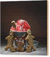 Gingerbread Family Wood Print