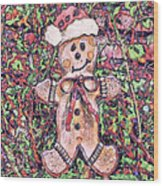 Gingerbread Fantastico Wood Print