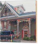 Gingerbread House - Metairie La Wood Print