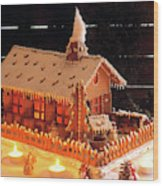 Gingerbread House, Traditional Wood Print