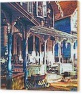 Gingerbread Houses Wood Print