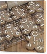 Gingerbread Man Cookies Wood Print