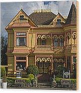 Gingerbread Mansion Wood Print