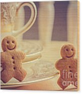 Gingerbread Men Wood Print