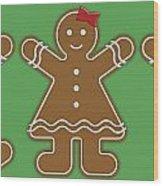 Gingerbread People Wood Print