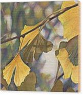 Ginkgo Gold Wood Print