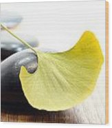 Ginkgo Leaf  Wood Print
