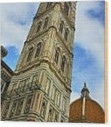 Giotto Campanile Tower In Florence Italy Wood Print