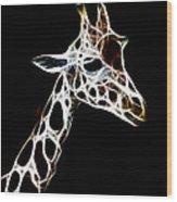 Giraffe Art Wood Print