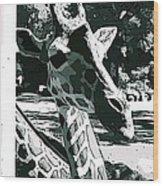 Giraffe Closeup Wood Print