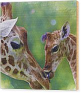 Mom And Me Wood Print